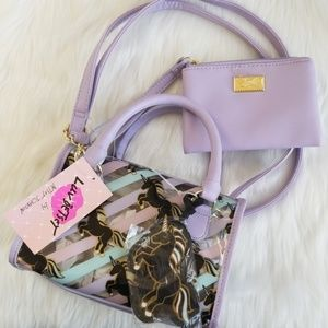 NWT Betsey Johnson Sydney Unicorn Mini Satchel